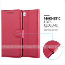 New Arrival Lichee PU Leather Phone Case Cover With Stand Card Slots For Apple Iphone7, For Apple iphone 7 Flip Back Cover
