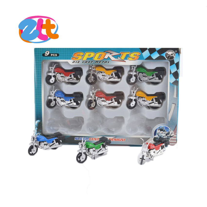 New style model motorcycle diecast model motorcycle 9PCS diecast model for kids
