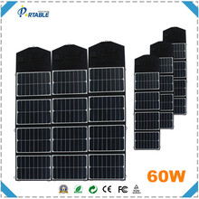 China fabric fold high efficiency sunpower solar panel for charging laptop 60w