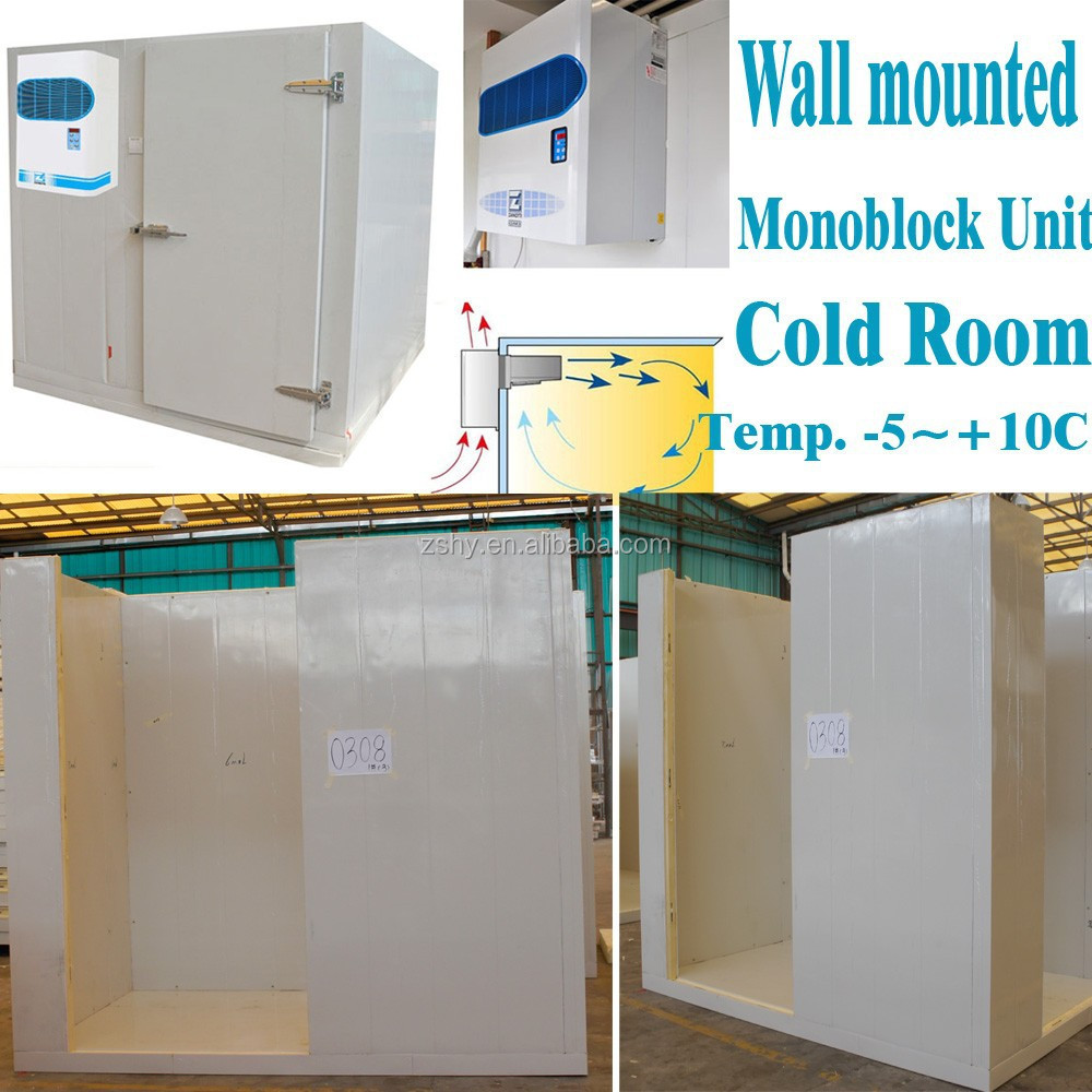 cold room with wall mounted monoblock unit
