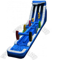 Customize size blue slip N slide kids giant inflatable water slide for adult