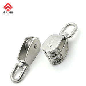 Stainless Steel Swivel Toggle Eye Block Wheel Rope Lifting Pulley