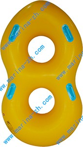 heavy duty pvc inflatable double person adult inflatable toy for pool with towable