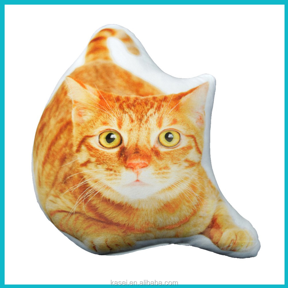 Digital printed cat cushion