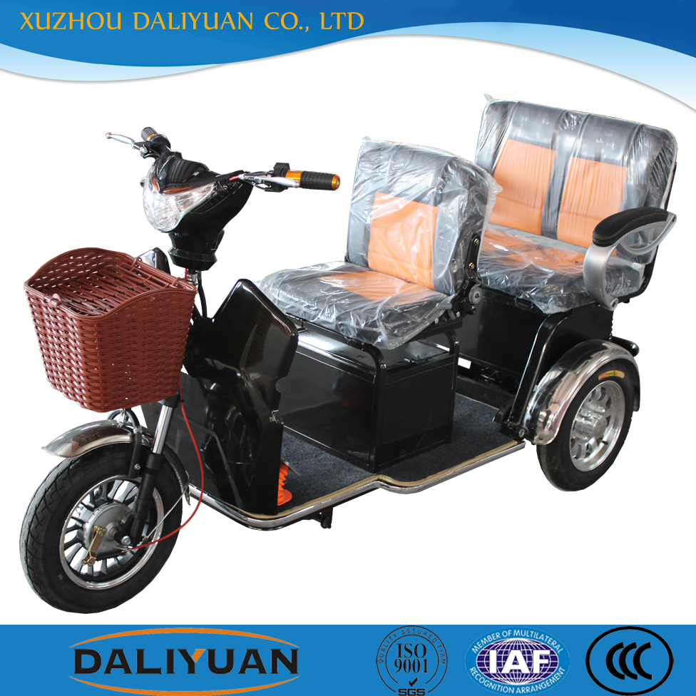 Adult Electric Tricycle Price For Passenger With Two Seat