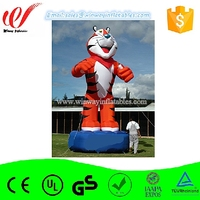 Customized large giant inflatable tiger,inflatable ground balloon,helium balloon Y3106