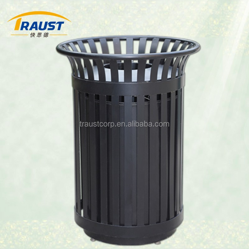 High quality durable cast iron decorative dustbin for sale
