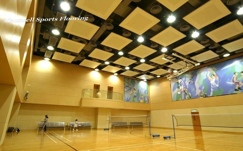 plastic 100% PVC wood pattern sports flooring for badminton court used