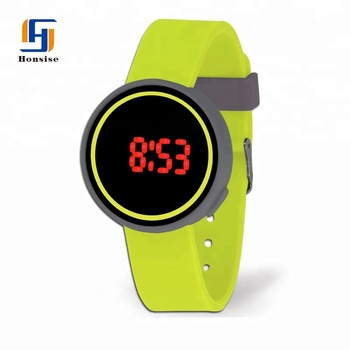 Touch Screen Silicone Multi Function Digital Watch With Alloy Case