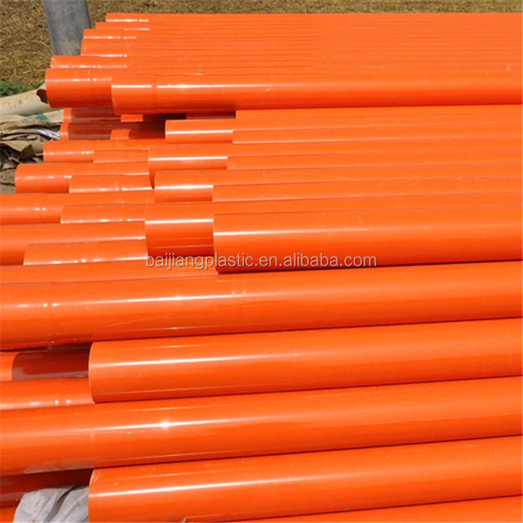 Cheap Orange Colored PVC Pipe for Cable Protection