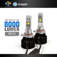 YIke High Quality LED 70W 8000LM White 9012 h1 h4 h7 h11 HB3 Hb4 Car DRL Fog Headlight Head Lamp High Power 12V