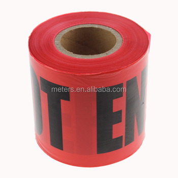 Caution And Danger Printing PE Red Warning Tape