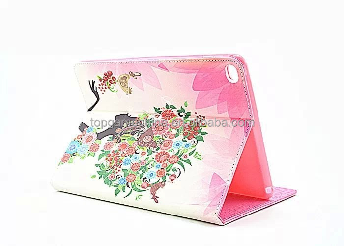 leather case for 9.7 inch tablet pc for ipad 6 pu leather printing case