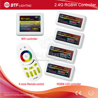 Mi light WiFi controller + 4x led Controller RGBW + 2.4G 4-Zone RF wireless touching remote control for 5050 3528 Led Strip