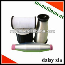 Hollow fiber polyester monofilament yarn with plastic tube