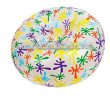 Floral circular PVC inflatable chair sofa