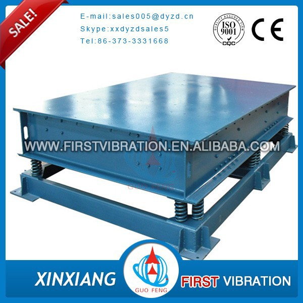 electric vibrating table for concrete from Xinxiang manufacturer