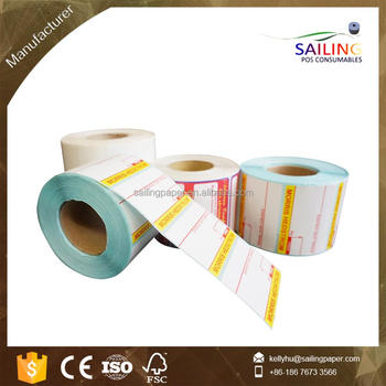 customized direct thermal label sticker and thermal transfer label sticker