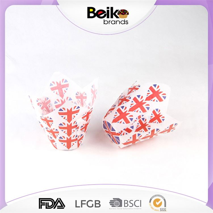 Modern style excellent quality personalized tulip cupcake liners wholesale