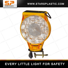 Solar power barricade warning lights, 360 degree high visibility swivel head lamp