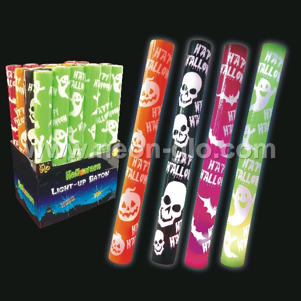 Halloween LED Flashing Foam Glow Stick 4 Colors Pack