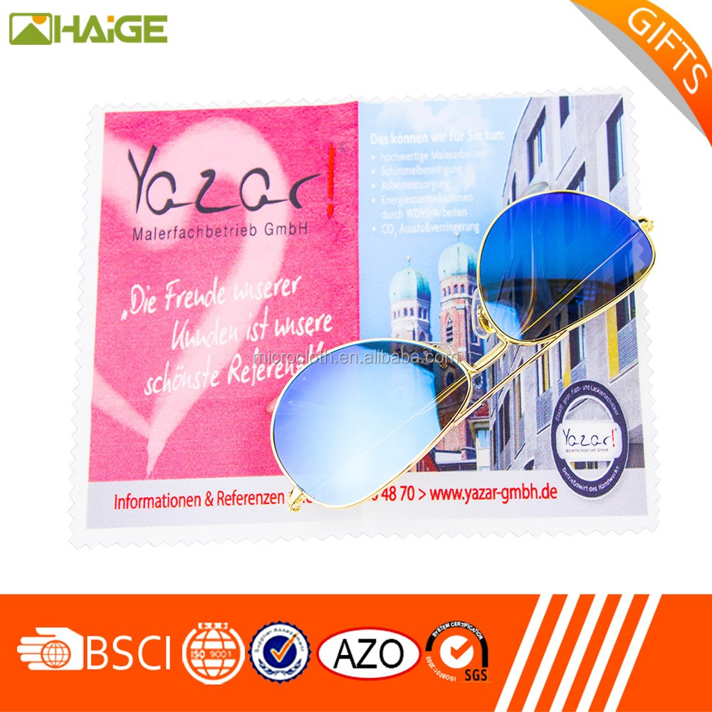 silk logo screen printed microfiber fiberglass cloth/microfiber lens cleaning cloth/sunglasses cloth