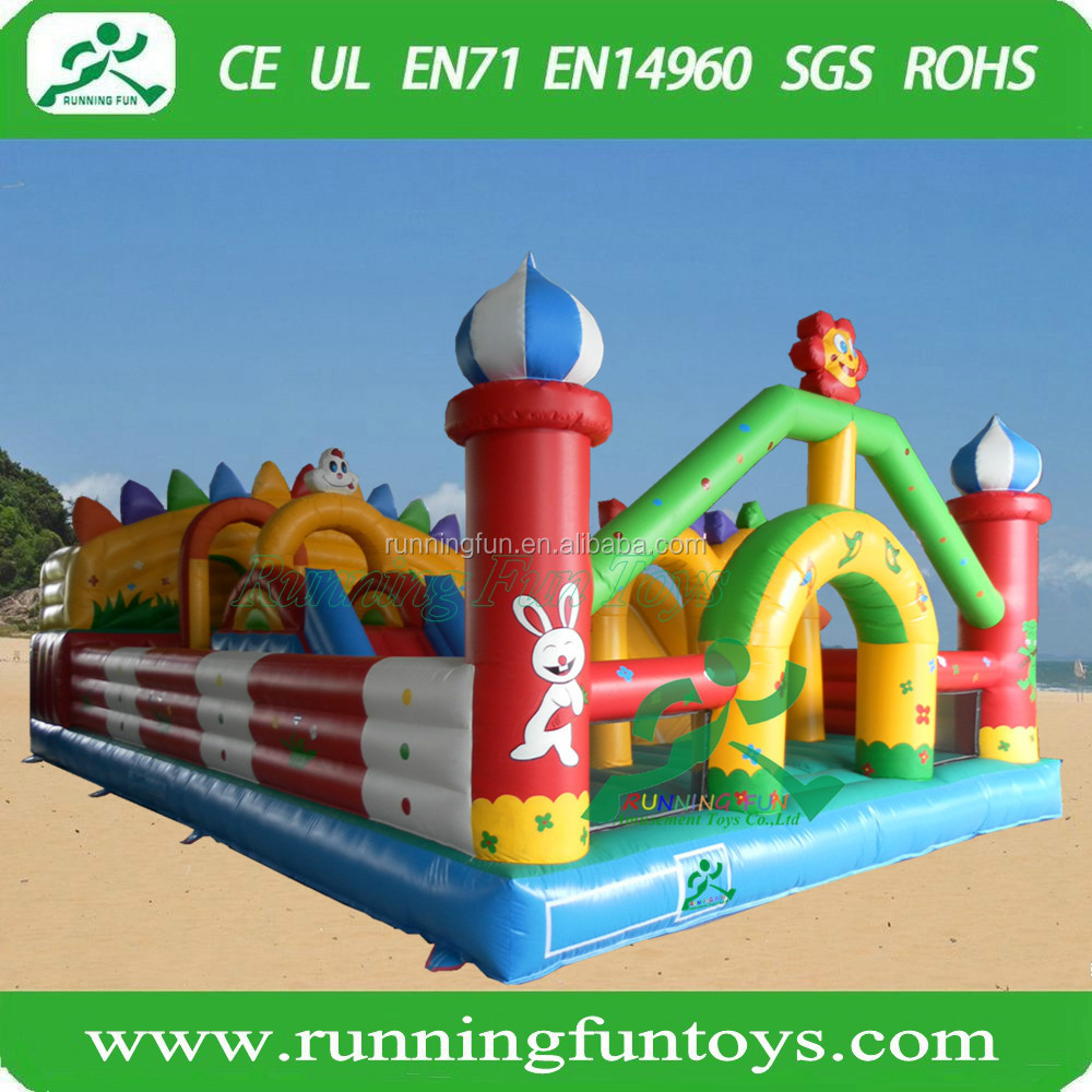 Amusement kids fun city giant inflatable bouncy castle