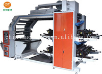 Four 4 color High speed Paper Flexo Printing Machine with ceramic rollers