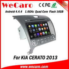 Wecaro WC-KU8051L Android 4.4.4 car dvd player quad core for kia cerato 2013 audio system bluetooth 2013 2014