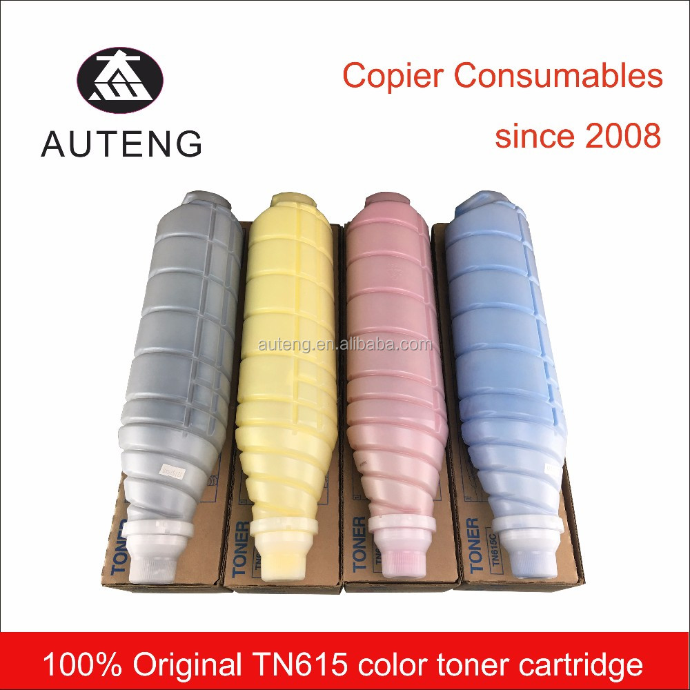 Genuine TN615 color toner cartridge for Konica Minolta bizhub c8000