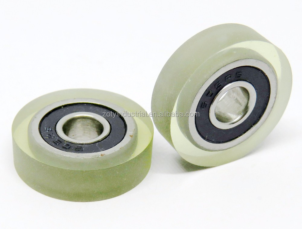 605RS 5x18x5 low noise durable small rubber wheel with bearings