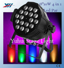 18pcs 10W 4 in 1 Color Mixing RGBW Cob Led Par Light