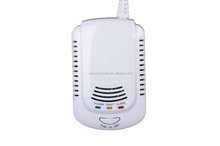 battery powered gas leak detector/Cheap price natural CH4 gas leak detector with shut-off valve