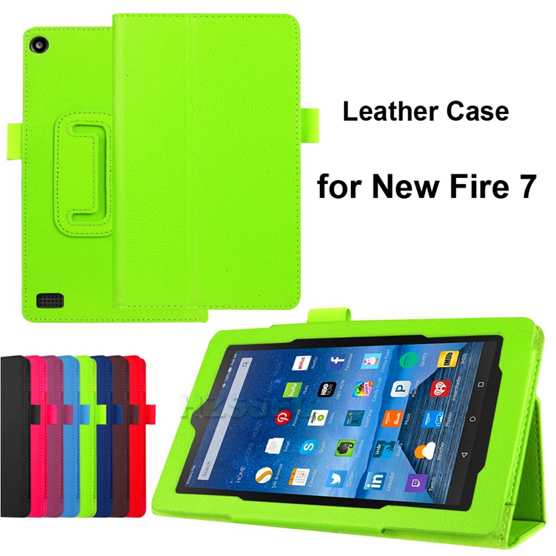 Phone Leather Cover For Amazon Kindle HD Fire 7 7inch Customized Printing Folio Tablet Case