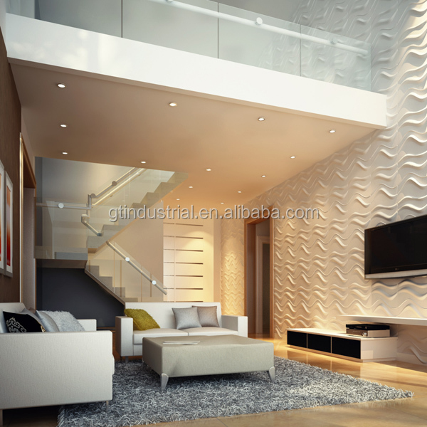 Upscale and reasonable price 3d plastic abs wall panels nice acoustic wall panel