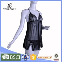 black manufacturer hot best price sexy ladies night suits