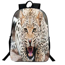 2017 New Fashion Leopard Animal Backpack Sublimation for Children