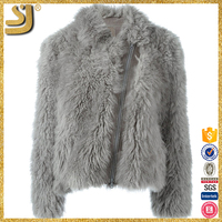 Beautiful zipper warm winter ladies fashion mink fur coat, high quality fur coat women
