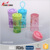 colorful Plastic sport water bottles with handle
