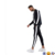 training suit Club Baseball collar Zip fastening Tape Muscle fit track jacket + skinny joggers Tracksuit Black With Side Stripe