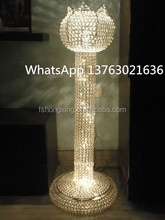 Wedding decoration lotus Pillar Design colum flower stand/wedding crystal pillar