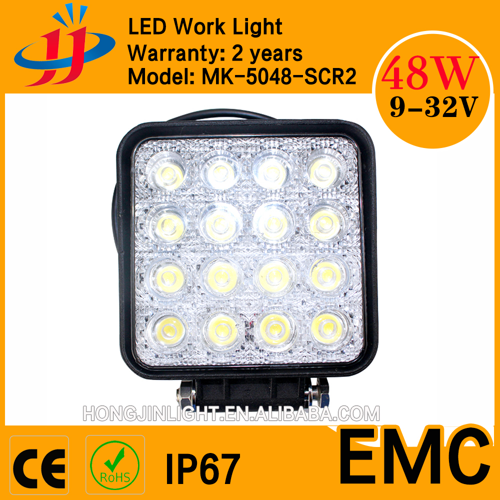 High quality tractor jeep offroad light 48W auto led work lights