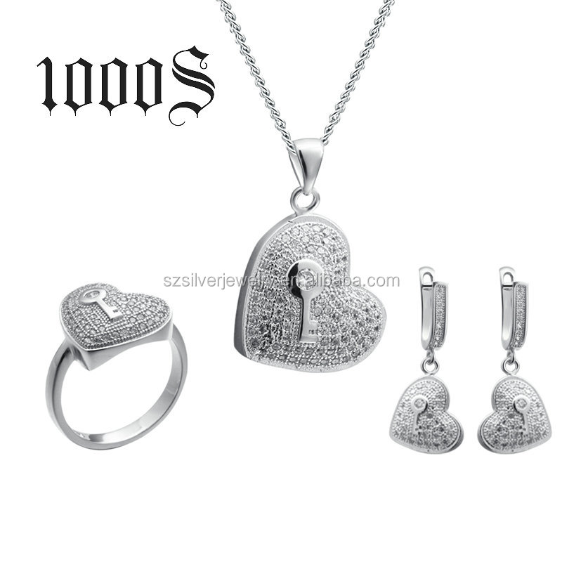 SM00074 Women Jewelery Set, Silver Jewelry Wholesale