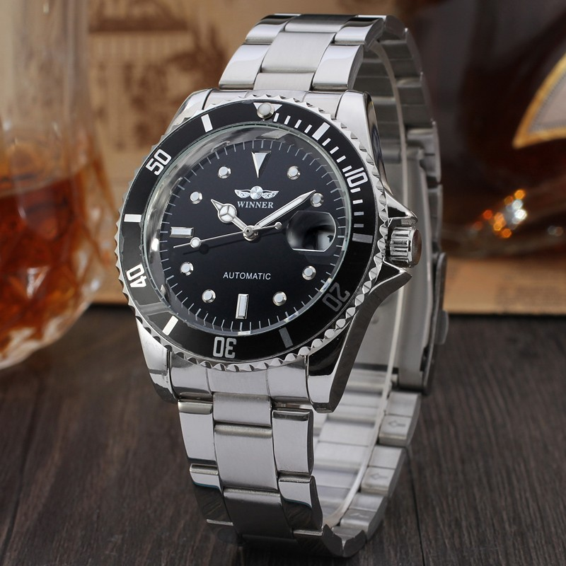 Luxury Hot T-Winner oem  automatic men stainless steel watch
