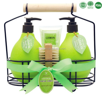 Good Quality Lemon Perfumed Bath Gift Set For Promotional