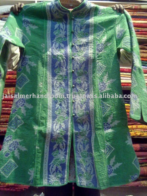 Vintage kantha Long Jacket Reversible Gudri Coat Sherwani Many choices