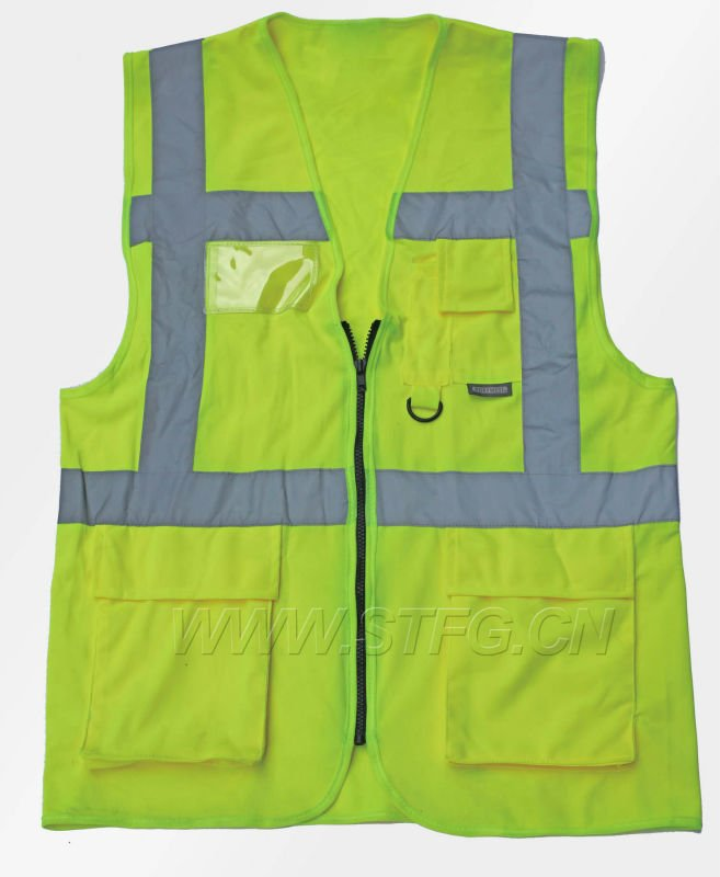 Hi Vis Security Vest reflective work vest with pocket