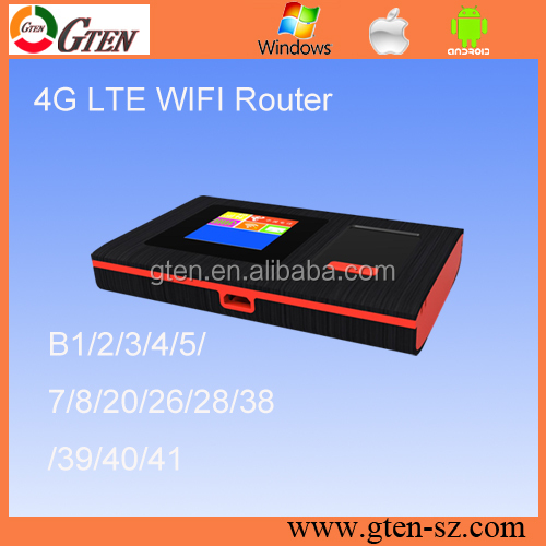 150Mbps Unlimited Data lte wifi hotspot with 1800mAh power bank for travel