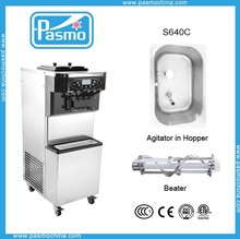 New type hot sell toping two flavor creamy soft ice cream machine