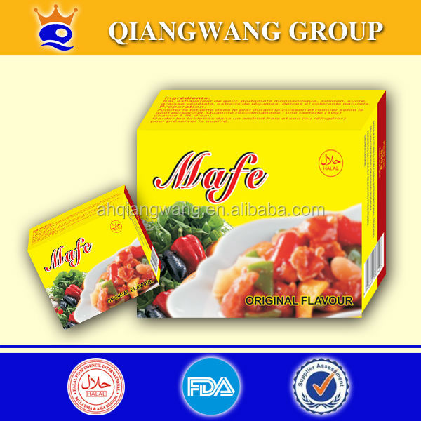 10G*60*24 GOOD TASTE HALAL SHRIMP BOUILLON CUBE CREVETTE SEASONING CUBE CRAYFISH SOUP CUBE